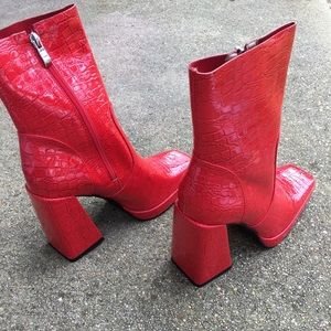 Sexy red boots